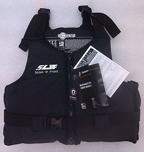 Soles Up Front 50N Schwimmweste für Erwachsene, für Jet Ski/Windsurfen/Wasserski/Fischen etc., kompakt, entspricht EN393 Medium / Large Mehrfarbig - grau / schwarz