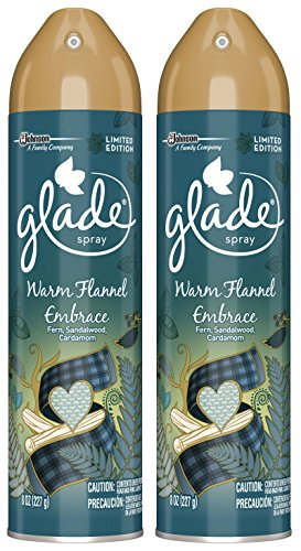 - Glade Air Freshener Spray - Limited Edition - Warm Flannel Embrace - Net Wt. 8 OZ (227 g) Per Can - Pack of 2 Cans