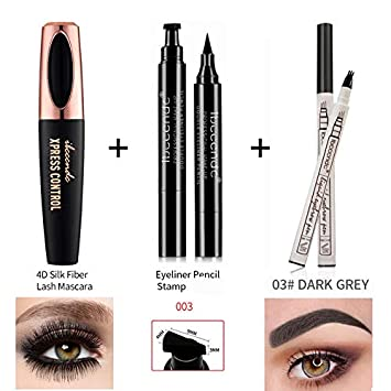 1aa643f0f61 4D Silk Fiber Lash Mascara Waterproof Mascara 3D Eyelash Thick Lengthening  Eye Lashes Eyebrow Tattoo Pen
