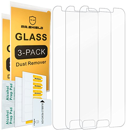 [3-Pack]-Mr.Shield for Samsung Galaxy J7 V J7V (2nd Gen) / J7 (2nd Generation) (Verizon) [Tempered Glass] Screen Protector with Lifetime Replacement