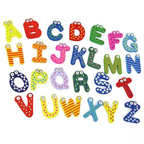 Lyanther Paquete de 26 Letras del Alfabeto Número imanes de Nevera ...