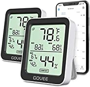 Govee Hygrometer Thermometer, Bluetooth Humidity Meter with APP Alerts and Data Storage
