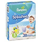 Pampers Splashers Swim Diapers Disposable Swim Pants, Small, Size 3 (13-24 lb), 20 Count (Pack of 2)