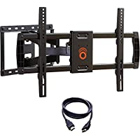 ECHOGEAR Full Motion Articulating TV Wall Mount Bracket for Most 37-70 inch LED, LCD, OLED and Plasma Flat Screen TVs w/VESA Patterns up to 600 x 400-16 Extension - EGLF1-BK