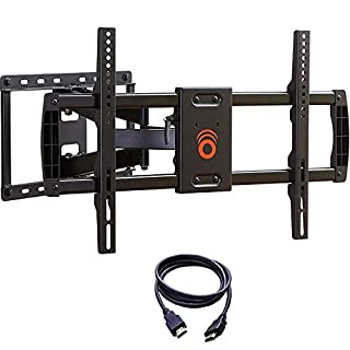 "ECHOGEAR Full Motion Articulating TV Wall Mount Bracket for TVs Up to 70"" - Extends from The Wall 16"" with Smooth Swivel & Tilt - Simple 3-Step Install"