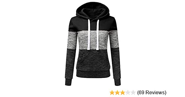 c18823255e285 Amazon.com  Oksale Fashion Womens Casual Hoodies Sweatshirt Patchwork  Ladies Hooded Blouse Pullover  Clothing