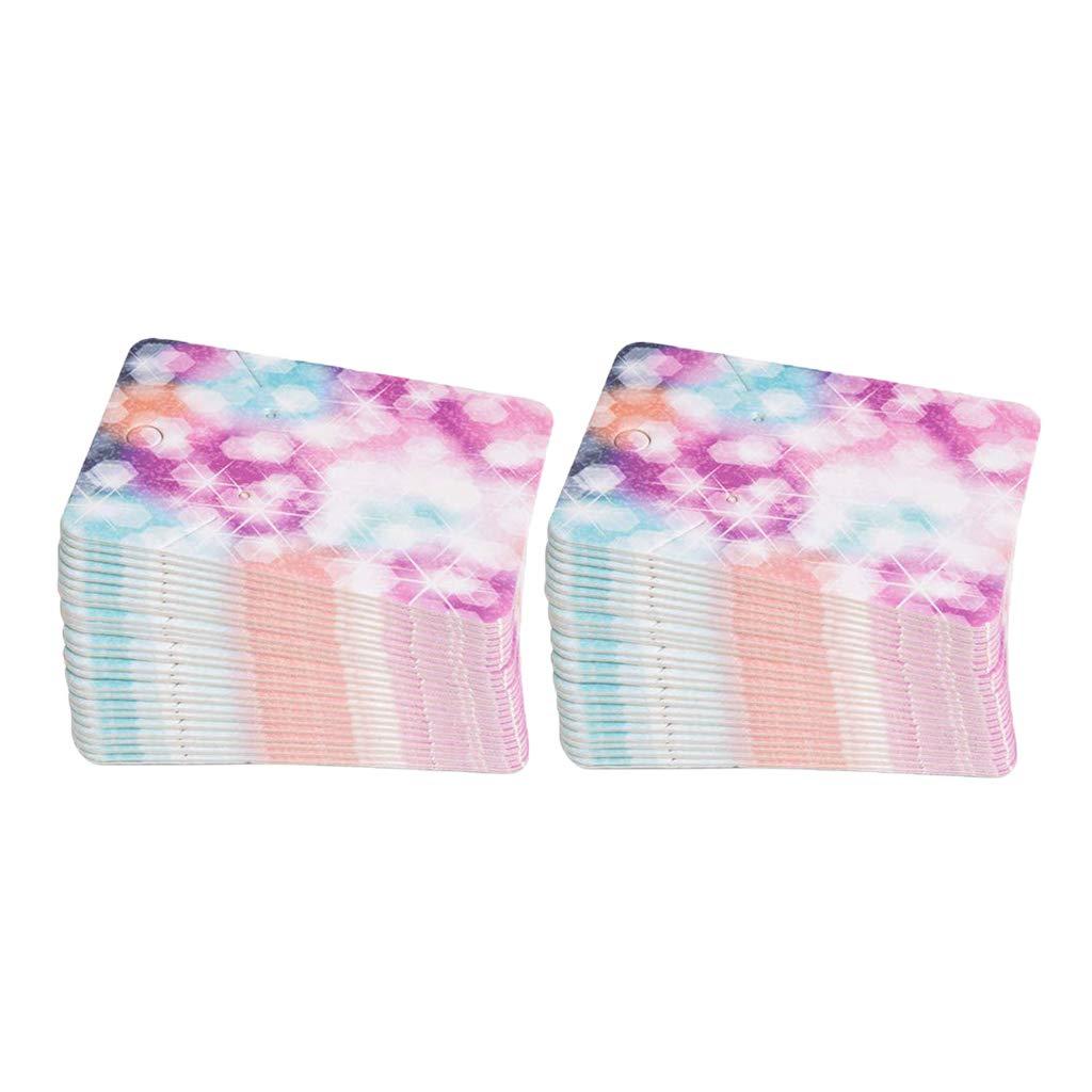 7 Cm Almencla 100 Paquets Porte-Cartes /à Suspendre de Bijoux 5 Cercles color/és