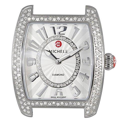 MICHELE Women's MW02A01A2991 Urban Mini Analog Display Swiss Quartz Silver Watch -