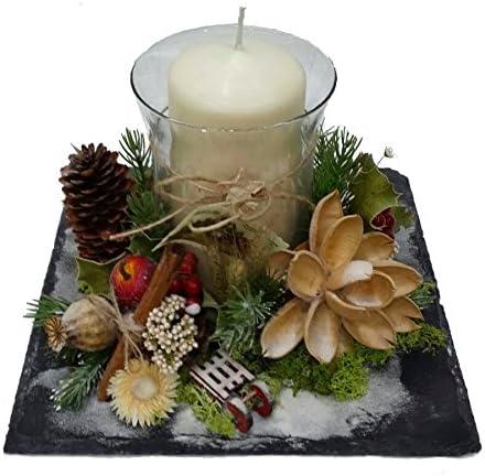 Centro de mesa navideño . Decoración de navidad . Diseño exclusivo ...