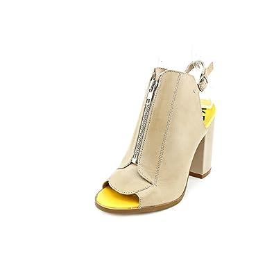 Kelsi Dagger Womens Giulia Leather Open Toe SlingBack Classic Beige Size 10.0