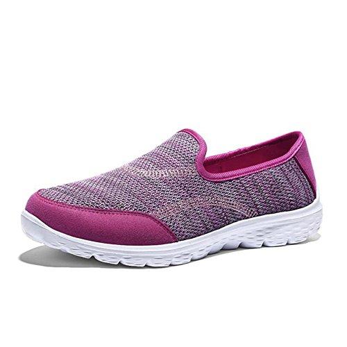 Un Lisas de Planos Deporte de de Zapatillas Zapatillas Casuales Zapatillas Deporte Zapatos Bajas Mocasines de Mujer Punto F00aq