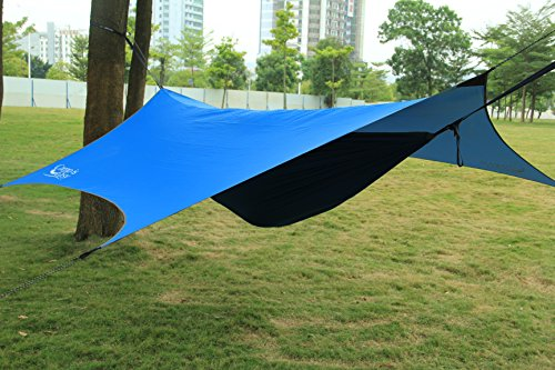 Waterproof Rip Resistant Camping Tarp For Any weather. Perfect Tent cover Or Hammock Rain Fly. Use For Shelter Or Sunshade. Ultralight And Portable Nylon Fabric. Great For Hiking, Backpacking & Travel