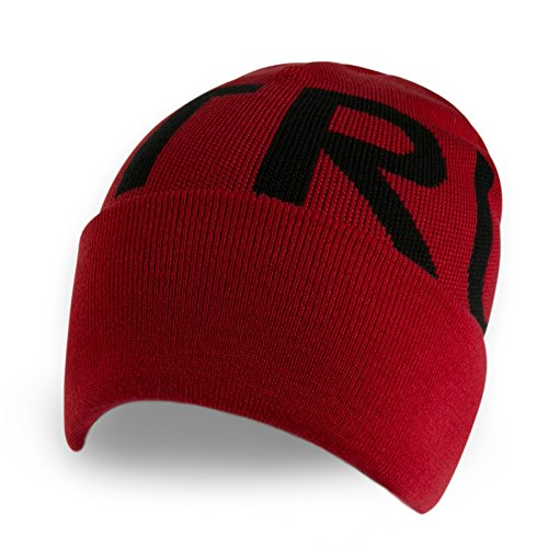 True Religion Block Letters Watch Cap (OSFA, True Red)