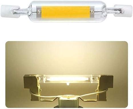 Dimmable LED R7S Glass Tube Light COB Bulb 78mm 118mm Replace Halogen Lamp RGCA