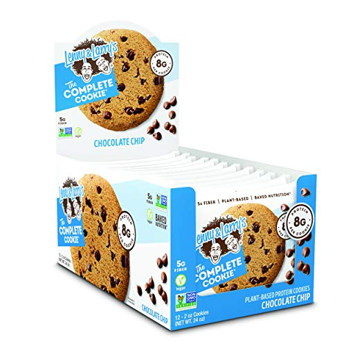 Lenny & Larry's The Complete Cookie Snack Size, Chocolate Chip, Soft Baked, 8g Plant Protein, Vegan, Non-GMO 2 Ounce Cookie (Pack of 12) 2