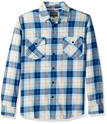 Hawaiian Street Shirt (Quiksilver Waterman QUIBB Men's Wade Creek Woven Button Down Shirt, Rust M)