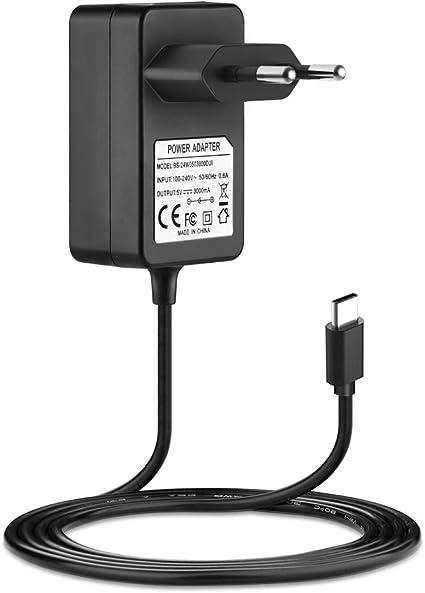 BERLS Nintendo Switch Power Adapter 5 V 3 A Cable Cargador de ...