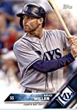 2016 Topps Team Edition #TB-5 Brad Miller Tampa Bay Rays Baseball Card in Protective Screwdown Display Case