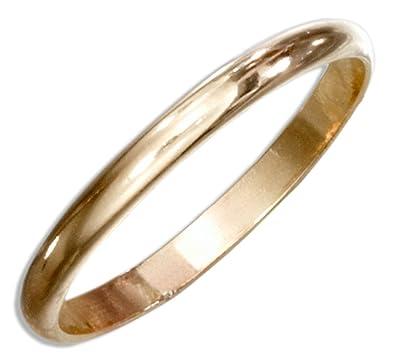12 Karat Gold Filled 2mm Wedding Band Ring Size 06