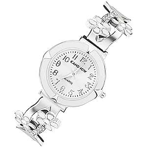 Candy Color Fashion White Daisies Flower Women's Crystal Bangle Bracelet Quartz Watch