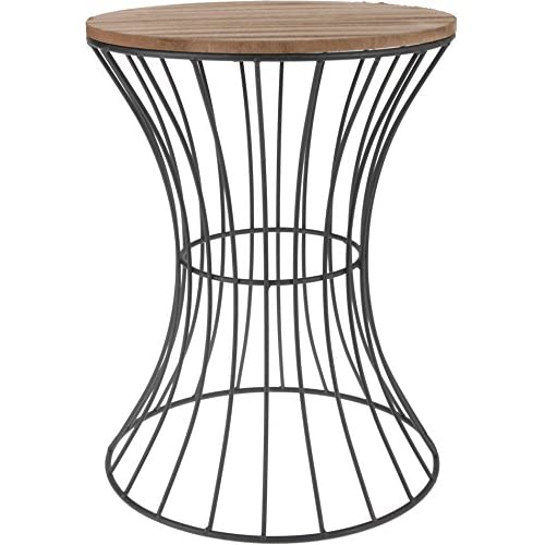 Wire side table amazon designer side table made from metal with wooden table plate decorative table with curved metal keyboard keysfo Choice Image