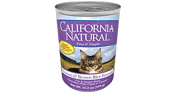 Amazon.com : California Natural Venison & Brown Rice Canned Cat & Kitten Food - 12x13.2 oz : Pet Supplies