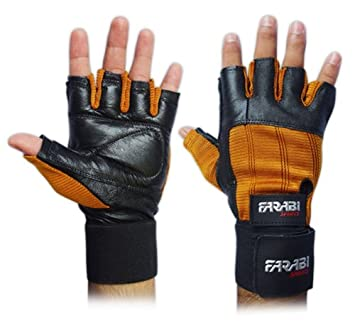 Farabi Weight Lifting Gym Training Fitness Gloves Wrist Support Exercise
