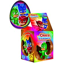 PJ Masks Choco Treasure Eggs with Toy Surprise!, Tray of 12 Eggs | 24 Collectible Toys | Fun For All Ages