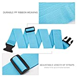 Luxebell Luggage Straps Suitcase Belt Travel Accessories, 1.96 in W x 6.56 ft L (6.56ft, 4 Colors)