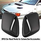 wawoo 2PCS Car Hood Vents for Subaru 99-01 GC8 GF8 STi WRX 2.5RS Car Accessories in Style