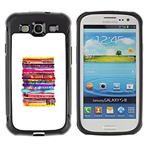 WAWU Funda Carcasa Bumper con Absorci??e Impactos y Anti-Ara??s Espalda Slim Rugged Armor -- pancakes abstract white pastry kids -- Samsung Galaxy S3 I9300