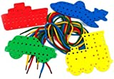 4 Transport Lacing Shapes & Threading Laces - Kids Education by a2bsales