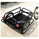 Aosom Wanderer Bicycle Bike Cargo / Luggage Trailer - Black Black offers