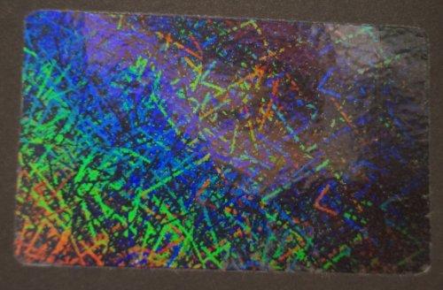 10 Hologram Confetti Self Stick ID Overlays, Thin .05 Mil Confetti Thin