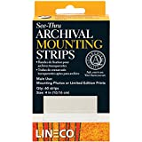Lineco L533-4015 See Thru Mount Strips 1.25Inx 4In