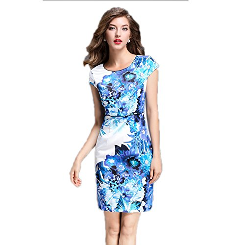 Neck Womens Dresses Sleeve cotyledon Short Pencil Fit Gowns Evening Scoop Slim YdaSqwP