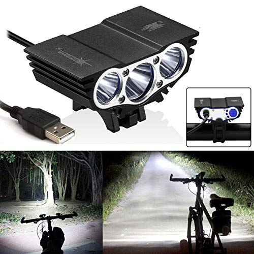 3 x CREE XM-L T6 LED Bicycle Bike Headlight Head Light Lamp Torch Flashlight