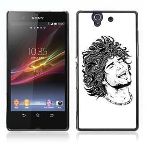 CQ Tech Phone Accessory: Carcasa Trasera Rigida Aluminio Para Sony Xperia Z L36H - Cool Tattoo Illustration
