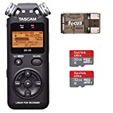 Tascam DR-05 Portable Digital Recorder w/ 2 SanDisk 32GB Card & Card Reader