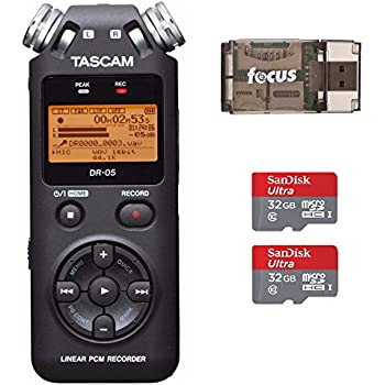 Amazon Tascam Dr05 Stereo Portable Digital Recorder Musical