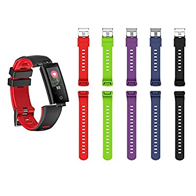 Teamyo Fitness Tracker Watch, Activity Tracker Watch Smart Bracelet with Heart Rate Blood Pressure Monitor, Color Screen Pedometer Watch,IP67 Waterproof Smart Band (G16-band-Red)