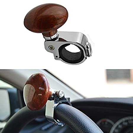 Brown Car Power Steering Wheel Ball Suicide Spinner Handle Knob Booster Great Atv,rv,boat & Other Vehicle