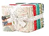 Eat Drink and Be Ugly Fat Quarter Bundle 38 Precut Cotton Fabric Quilting by Sandy Gervais Moda Fabrics, 17920AB