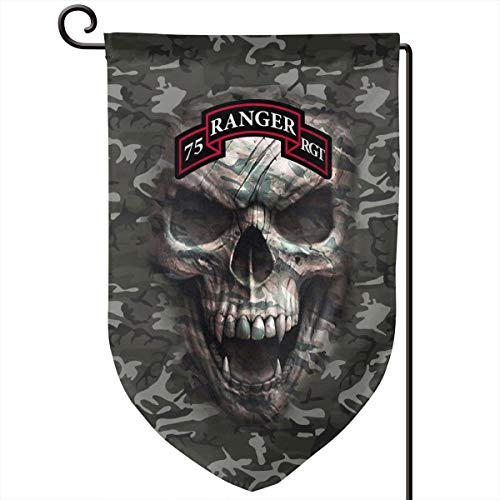 (SOMUCHJRFLAG US Army - 75th Ranger Regiment Tab Garden Flags Holiday Outdoor Yard Flags 18 X 12 Inch Printed On Both Sides)