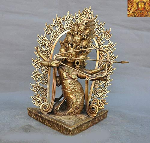 "SIYAO Wedding Decoration 12"" Tibetan Temple Bronze, used for sale  Delivered anywhere in USA"