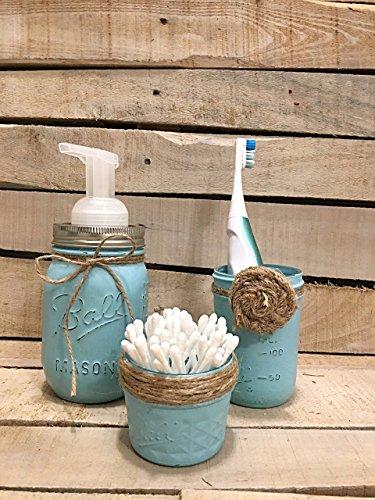 Three-Piece-Set-Rustic-Mason-Jar-Bathroom-Storage-Mason-Jar-Organizer-Bathroom-Accessories-Pump