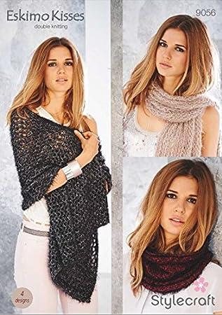 Stylecraft Damen Schals, Schals und Snood Eskimo Kisses Strickmuster ...