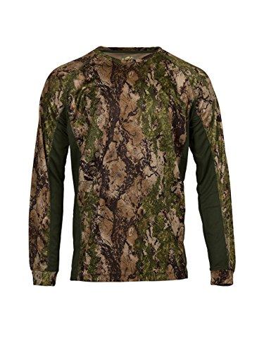 Natural Gear Camo Long Sleeve T-Shirt, Camo Shirt for Women and Men, 100% Polyester Hunting Shirt (X-Large)