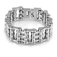 LiteXim Motorcycle Stainless Steel Men's Bicycle Bike Chain Bracelet Jewelry
