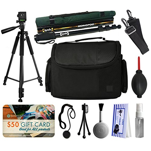 60-Inch-Tripod-67-Monopod-Large-Case-for-Prints-for-Nikon-DF-D7200-D7100-D7000-D5500-D5300-D5200-D5100-D5000-D3300-D3200-D3100-D3000-D300S-D90-D60-DSLR-SLR-Digital-Camera